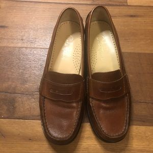 Cole Haan Brown Pinch Penny Loafers - Cognac